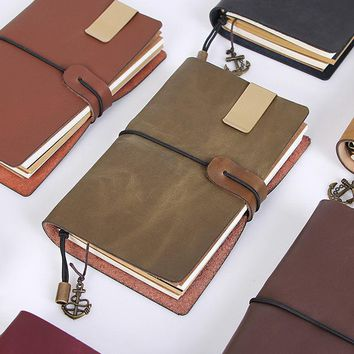 Vintage Leather Traveler's Notebook Diary Handmade Sketchbook Journal Refill Paper Gift Personalized Get Accessories