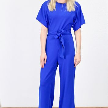 Peek-A-Boo Back Jumpsuit {Royal Blue}