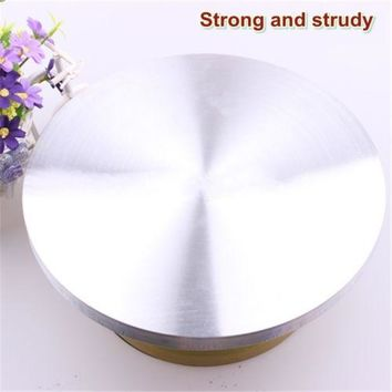 steel clad Baking Pastry cream cake turntable 30cm baking pottery wheel