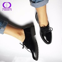 Flats British Style Oxford Shoes Women Spring Soft Leather Oxfords Flat Heel Casual Sh