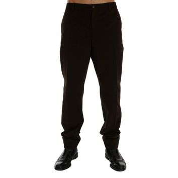 Dolce & Gabbana Brown Cotton Chinos Pants