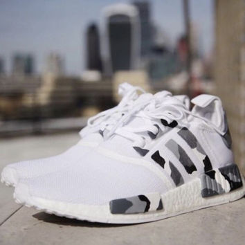 simpleclothesv Adidas NMD Women Men Casual Running Sport Shoes Sneakers - Camouflage White