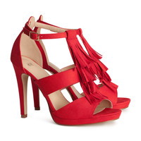 H&M - Sandalettes - Red - Ladies