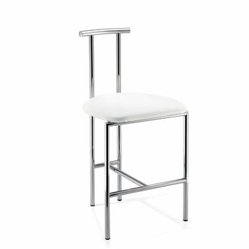 DW H1 / DW H2 Vanity Bar Stool Bench, With Brass Metal Legs & Back 18.5-inch
