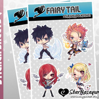 Fairy Tail Stickers - Anime Chibi Sticker Sheet