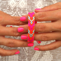 Friendship Bracelet. All About Pink. by makunaima on Etsy