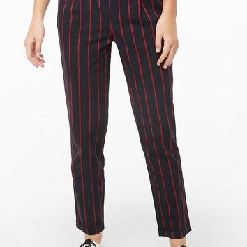 High-Rise Striped Pants
