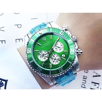 Rolex tide brand men and women personality outdoor sports multi-function quartz watch Green