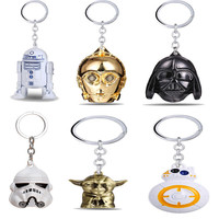 Star Wars BB8 R2D2 C3PO droid keychain