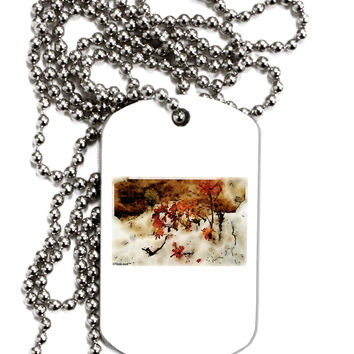 CO Painted Mines Watercolor Adult Dog Tag Chain Necklace