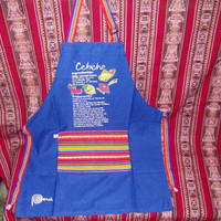 Peruvian Design Aprons. Special Aprons with typical designs of Peru.