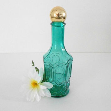 Avon Glass Mouthwash Bottle Breath Fresh 1970s Vintage