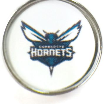 NBA Basketball Logo Charlotte Hornets 18MM - 20MM Fashion Snap Jewelry Snap Charm New Item