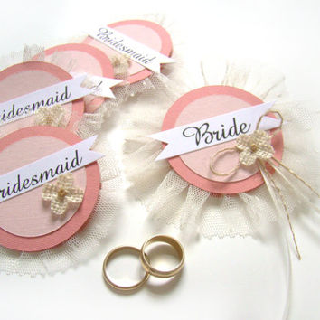 Bride Badge, Bachelorette Party Pins, Bridal Shower, Hen Party Pins, Wedding Party Badges, Coral Wedding
