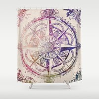 Voyager II Shower Curtain by Jenndalyn