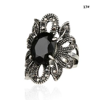 Antique Style Blackstone Ring