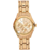 River Island Womens Gold tone bracelet watch