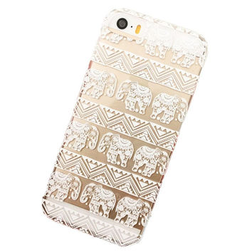 Henna Lotus Floral Elephant Hindu Ganesh Case Cover for iPhone 5/5S