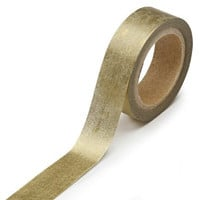 DARICE 1217-125 Washi Tape Roll, 5/8 by 315-Inch, Gold