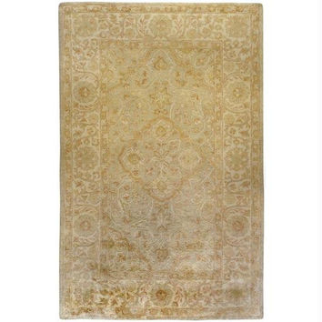 Area Throw Rug - Celery, Vanilla, Yellow, Honey, Coral, Pale Peach