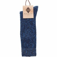 M.P. Crafted Garments Edgar Regular Sock in Midnight Blue