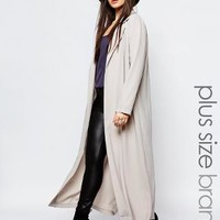 Missguided Plus | Missguided Plus Long Line Duster Coat at ASOS