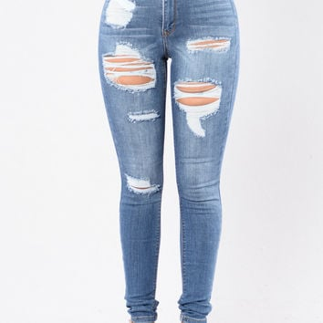 Heavy Lifting Jeans - Medium Blue