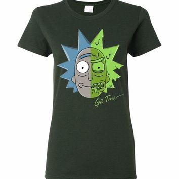 Get Toxic Rick and Morty Ladies T-Shirt
