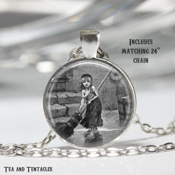 Les Miserables Necklace, Victor Hugo, Literature Quote, Book Pendant, chain included X322