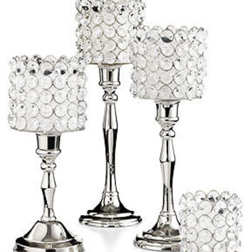 Leeber Candle Holder, 12 Sparkle Candlestick - Candles & Home Fragrance - for the home - Macy's
