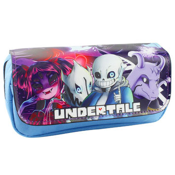 New Arrival: Game Undertale Pencil Case Bag Student Stationery Pouch Makeup Cosmetic Storage Bag (POUCH1207)