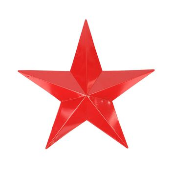 "11.5"" Scarlet Red Country Rustic Star Indoor/Outdoor Wall Decoration"