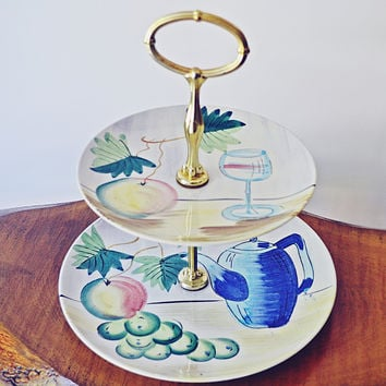 Vintage Cake Stand, Retro Pastry Stand, Mid Century