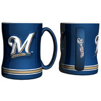 Milwaukee Brewers MLB Coffee Mug - 15oz Sculpted (Single Mug)
