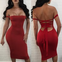 Womens Sexy Club Dress Bodycon Dress Bandage night out Dress