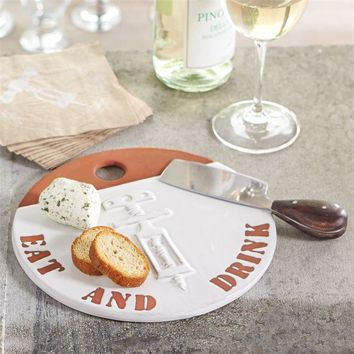 Cheese Plate & Plane Set by Mud Pie