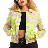 Vintage Y2K Butterfly BB Button Up Jacket - XS/S/M