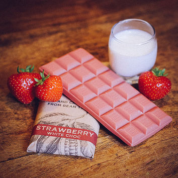 Vegan White Chocolate - Strawberry