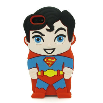 Universal Trading Superheroes & Superman series Design Cartoon Silicone case For Iphone 5C(Superman) = 1946146500