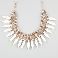 Full Tilt Marble Spike Rhinestone Statement Necklace Gold One Size For Women 24191262101