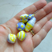 Lampwork Beads, Lampwork Glass Bead Set, Handmade Supplies for Handmade Jewelry
