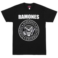 Ramones Classic Presidential Seal Punk Band Logo Licensed Adult Unisex T-Shirts