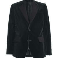 Dolce & Gabbana Collarless Slim-Fit Velvet Suit Jacket | MR PORTER