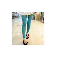 Women Green Rayon Leggings