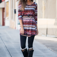Crazy For You Tunic, Burgundy