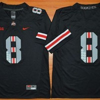 Original Nike Ohio State Buckeyes 8th Championship Commemorative Ice Hockey Jerseys - Black Size M,L,XL,2XL,3XL