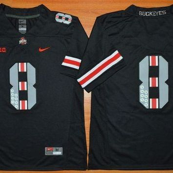 DCCKD9A Nike Ohio State Buckeyes 8th Championship Commemorative Ice Hockey Jerseys - Black Size M,L,XL,2XL,3XL