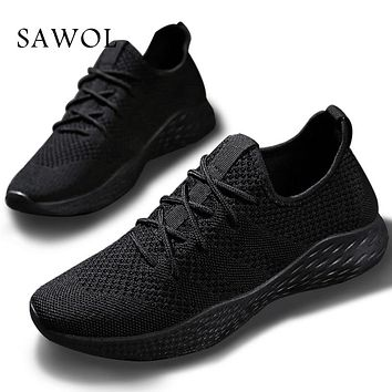 Brand Men Shoes Men Casual Shoes Men Sneakers Flats Mesh Slip On Loafers Breathable Big Size Spring Summer Autumn Winter Sawol