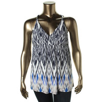 INC Womens Printed Racerback Pullover Top