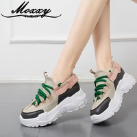 Moxxy Sneakers Women White Shoes Woman Tenis Dad Shoes Platform Ladies Baskets Chaussure Femme Zapatillas Mujer 2018 Moda Mujer